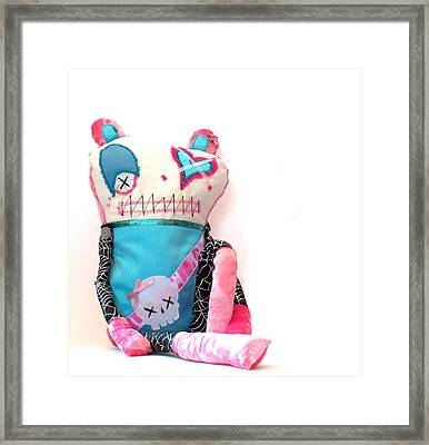 Mika The Original Party Monster Zombie Framed Print by Oddball Art Co by Lizzy Love
