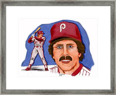 Mike Schmidt-color Framed Print by Chris  DelVecchio