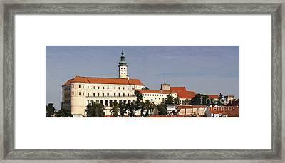 Mikulov Castle Framed Print by Michal Boubin