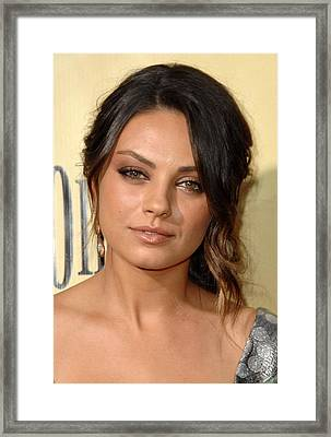 Mila Kunis At Arrivals For Extract Framed Print by Everett