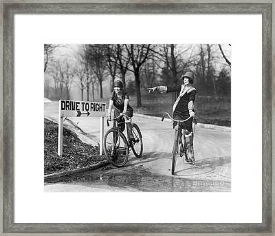 Mildred Billert And Hazel Bowman Framed Print by Photo Researchers