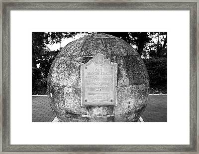 Mile Marker 0 Spanish Trail Framed Print by David Lee Thompson