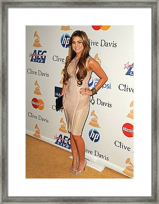 Miley Cyrus In Attendance For Clive Framed Print by Everett