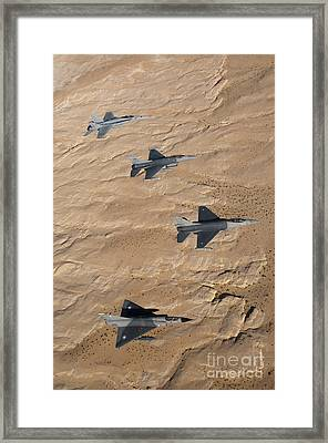 Military Fighter Jets Fly In Formation Framed Print by Stocktrek Images