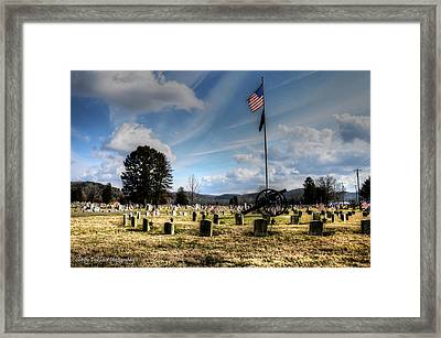 Military Honors Framed Print by Shirley Tinkham