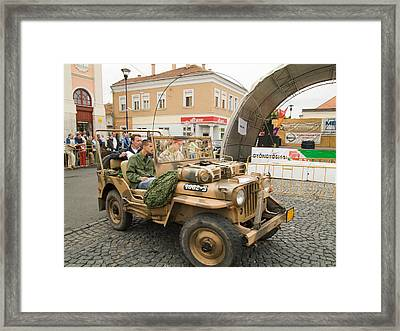 Military Old Car Framed Print by Odon Czintos
