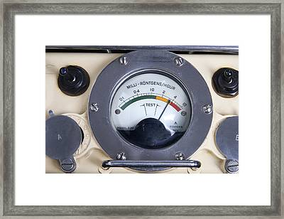 Military Radiation Meter Framed Print by Sheila Terry
