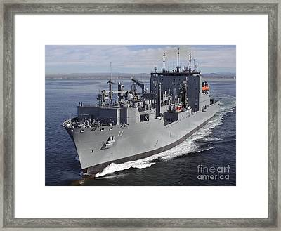 Military Sealift Command Dry Cargo Framed Print by Stocktrek Images