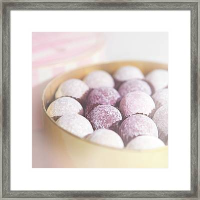 Milk Chocolate Truffles Framed Print by Peter Chadwick LRPS