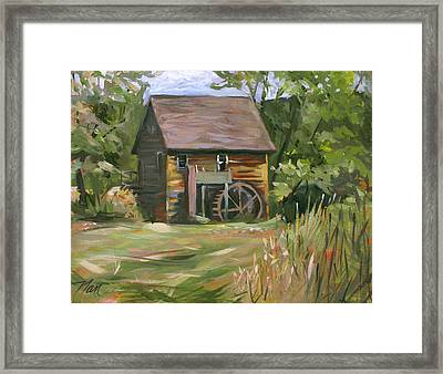 Mill In The Meadow Framed Print by Nancy Griswold