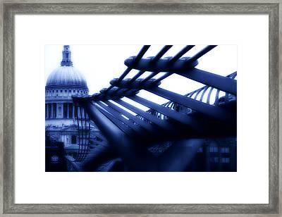 Millennium Bridge Framed Print by Dima Kirlov