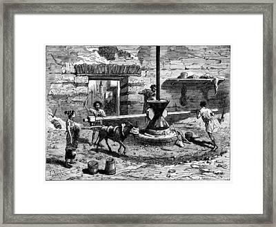 Milling Flour, Historical Artwork Framed Print by Cci Archives