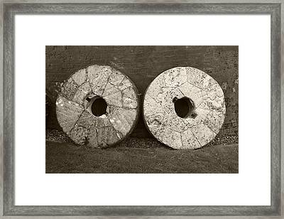 Millstones Framed Print by Victor De Schwanberg