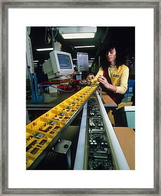 Mindstorm Programmable Lego Brick Manufacture Framed Print by Volker Steger