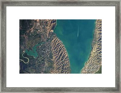 Mingachevir Reservoir, Azerbaijan Framed Print by NASA/Science Source