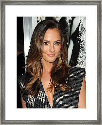 Minka Kelly At Arrivals For Country Framed Print by Everett