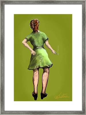 Minnie The Maid Framed Print by Jim Justice