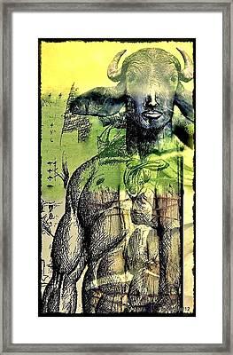 Minotaurus Framed Print by Paulo Zerbato