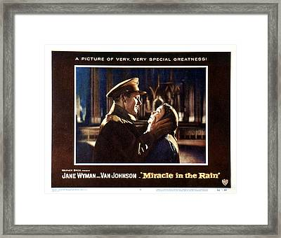 Miracle In The Rain, Van Johnson, Jane Framed Print by Everett
