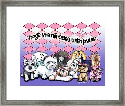 Miracles With Paws Framed Print by Catia Cho