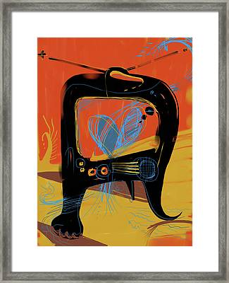 Miro Andmax Watch Lucy Framed Print by Russell Pierce