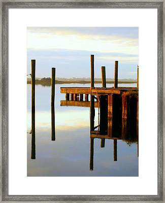 Mirror Image Framed Print by Karen Wiles