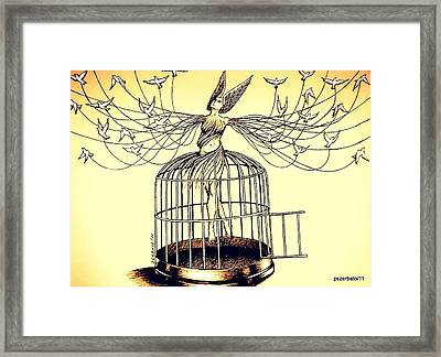 Mirror Of The Memory Of The Flight Framed Print by Paulo Zerbato