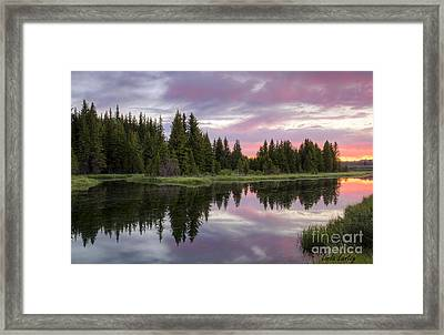 Mirrored Dawn Framed Print by Idaho Scenic Images Linda Lantzy