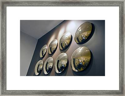 Mirrors Mirrors More Mirrors Framed Print by Kantilal Patel