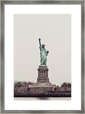 Miss Liberty Framed Print by Benjamin Matthijs