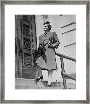 Miss Vivien Kellems 1896-1975 Framed Print by Everett