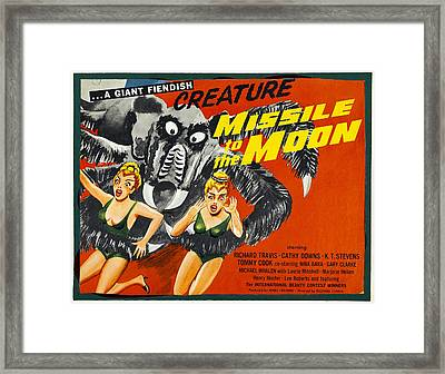 Missile To The Moon, Half-sheet Poster Framed Print by Everett