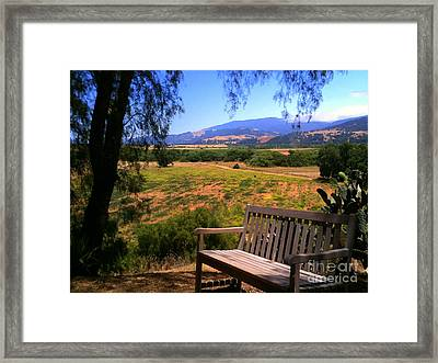 Mission Bench Framed Print by Susan Waitkuweit