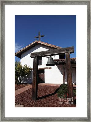Mission Francisco Solano - Downtown Sonoma California - 5d19301 Framed Print by Wingsdomain Art and Photography