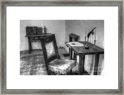 Mission San Diego De Alcala Writing Table Framed Print by Bob Christopher