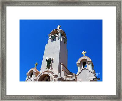 Mission San Rafael Arcangel Framed Print by Methune Hively