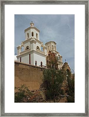 Mission San Xavier Del Bac II Framed Print by Suzanne Gaff