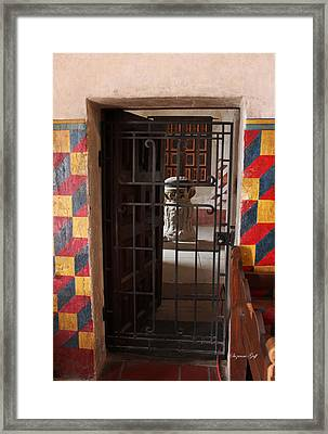 Mission San Xavier Del Bac - Inner Sanctuary Framed Print by Suzanne Gaff