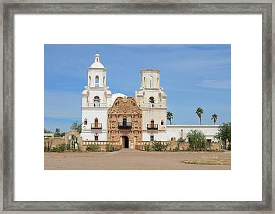 Mission San Xavier Del Bac Framed Print by Suzanne Gaff