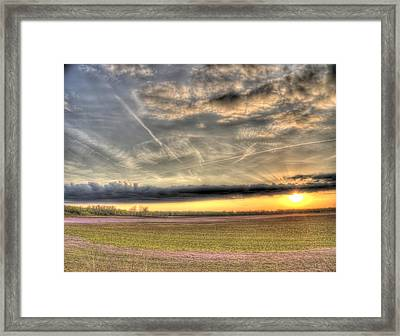 Missouri Bottoms Morning Glory Framed Print by William Fields