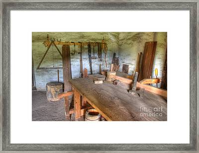 Misssion La Purisima Carpenters Room Framed Print by Bob Christopher