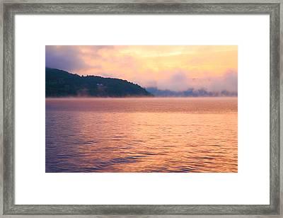 Mist Rising Framed Print by Steven Ainsworth