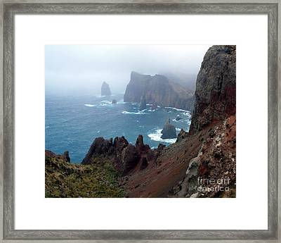 Misty Cliffs Framed Print by John Chatterley