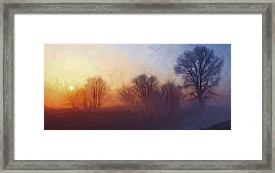 Misty Dawn Framed Print by Stefan Kuhn