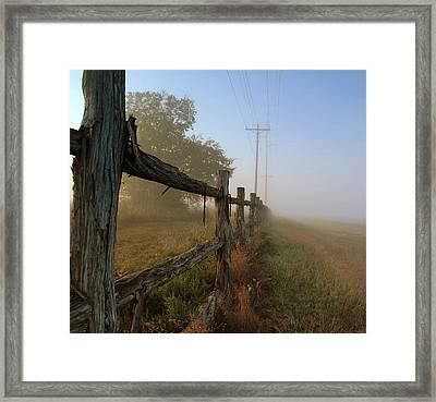 Misty Morning Framed Print by Cindy Rubin