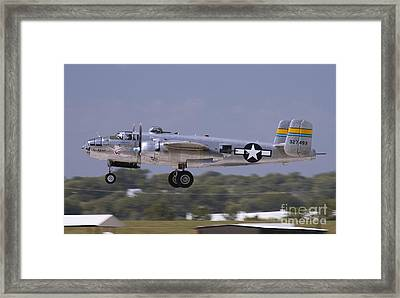 Mitchell Takeoff Framed Print by Tim Mulina