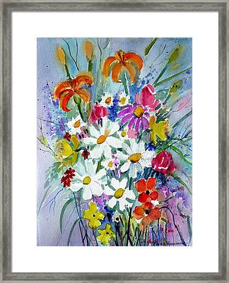 Mixed Floral  Framed Print by Maurie Harrington