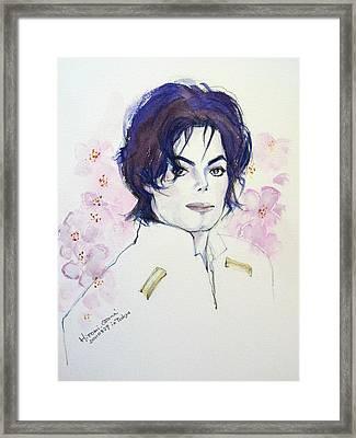 Mj In Sakura Framed Print by Hitomi Osanai