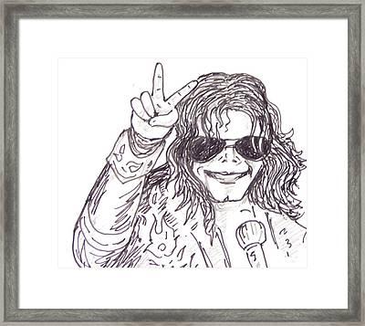 MJ Framed Print by Rajan V