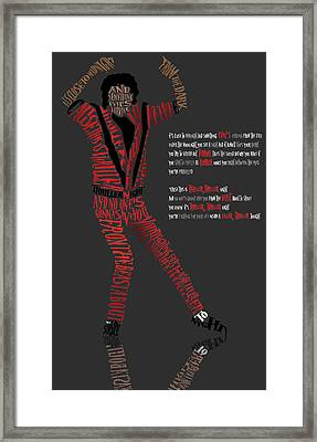 Mj_typography Framed Print by Mike  Haslam